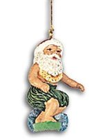 KC Hawaii Santa Surfing Island Style Ornament