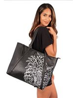 Hinano Tahiti Aolani Black Large shoulder bag