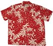Paradise Found Tahitian Gardenia Red Rayon Men's Hawaiian Shirt