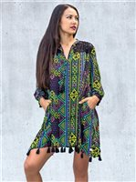 Taravana Kahaley Black Flowy Coverups [60% OFF]