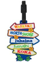 Signs Hawaiian Vinyl Luggage Tag
