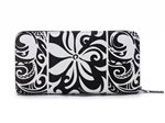 Happy Wahine Tapa Tiare Black Long Wallet Kaylee