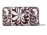 Happy Wahine Tapa Tiare Brown Long Wallet Kaylee