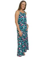 Coral of the Sea Hawaiian Dream Navy Gia Maxi Dress