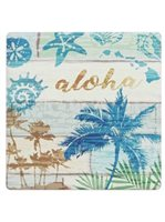 Seashell Palms Sandstone Coasters