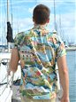 Tori Richard Boat Day Aloha - Standard Fit Blue Cotton Lawn Men