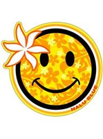 Happy Face Hawaiian Island Decals