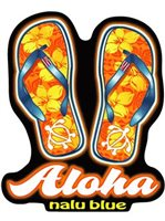Slippers Hawaiian Island Decals