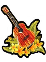 Ukulele Hawaiian Island Decals