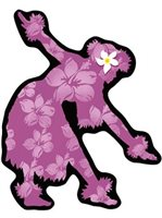 Hula Hawaiian Island Decals