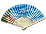Aloha Hula Girl Tropical Bamboo Fan