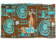 [Hawaii Exclusive] Hinano Tahiti Pilikea Brown Screen Printed Pareo