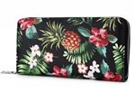 Happy Wahine Pineapple Vintate Black Long Wallet Kaylee
