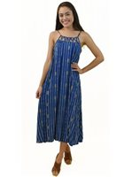 Angels by the Sea Pineapple Navy Rayon Leilani Maxi Dress