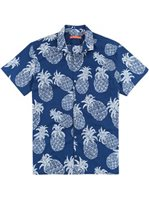 Tori Richard Sweet Tart Navy Cotton Lawn Pucker Men's Hawaiian Shirt