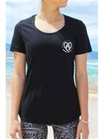 Mahiku Activewear Black Women's Cotton T-Shirt