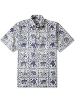 Reyn Spooner Lahaina Sailor Natural Cotton Polyester Men's Hawaiian Shirt Classic Fit