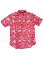 Reyn Spooner Lahaina Sailor Red Cotton Polyester Men's Hawaiian Shirt Tailored Fit