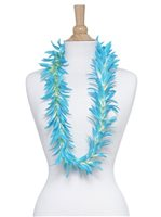 Light Blue Silk Spider Lily Lei 40""