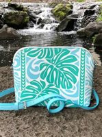 Happy Wahine Monstera Blue Crossbody Lori