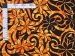 Tahitian Gardenia Orange Poly Cotton BN-17-220