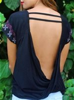 Hinano Tahiti Luna Black V-back top