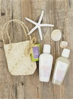 Lanikai Bath and Body Twosomes Body Wash and Lotion 2.2oz  in Lauhala Gift Bag [Orchid Vanilla]