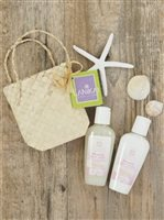 Lanikai Bath and Body Twosomes Body Wash and Lotion 2.2oz  in Lauhala Gift Bag [Plumeria]