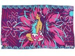 [Hawaii Exclusive] Hinano Tahiti Luana Purple Screen Printed Pareo