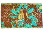 [Hawaii Exclusive] Hinano Tahiti Luana Brown Screen Printed Pareo