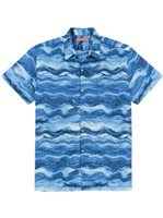 Tori Richard Seascape Navy Cotton Lawn Men's Hawaiian Shirt