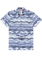 Tori Richard Seascape Purple Cotton Lawn Men's Hawaiian Shirt