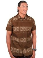 Hinano Tahiti Lupo Coconut Men's Hawaiian Shirt