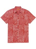 Tori Richard Black Coral - Standard Fit Red Cotton Lawn Men's Hawaiian Shirt