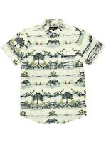 Molokai Surf Islands Cream Cotton Men's Hawaiian Shirt