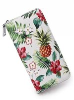 Happy Wahine Pineapple Vintage Beige Long Wallet Kaylee