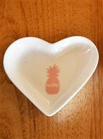 Angels by the Sea Pink Aloha Heart Pineapple Dish