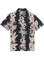 Tori Richard Vineyard - Relaxed Fit Black Silk Lyocell Men's Hawaiian Shirt