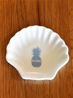Angels by the Sea Blue Aloha Shell Pineapple Dish