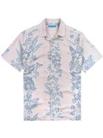 Tori Richard Vineyard - Relaxed Fit Pink Silk Lyocell Men's Hawaiian Shirt