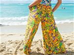 Taravana Pania Yellow Wide Leg Pants