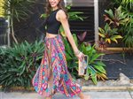 Taravana Rarahu Purple Side Slit Wide Leg Pants