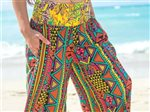 Taravana Pania Black Wide Leg Pants