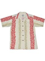 Avanti Lei Panel Beige Silk & Cotton Men's Hawaiian Shirt