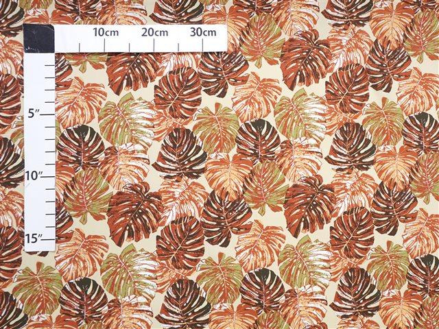 Monstera Garden Tan Cotton BQ-15-1018 | AlohaOutlet