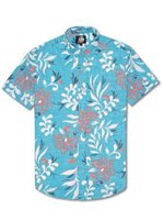 Reyn Spooner Perennial Pareau Surf Cotton Polyester Men's Hawaiian Shirt Tailored Fit