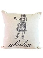 SoHa Living Hula Girl Aloha Pillow Cover