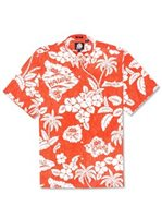 Reyn Spooner REYN'S SURF CAMP Bright Orange Cotton Men's Hawaiian Shirt Classic Fit