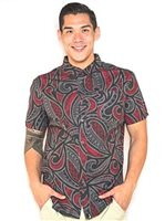 Hinano Tahiti Moon Black Men's Hawaiian Shirt