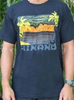 Hinano Tahiti Wind Black Men's T-Shirt